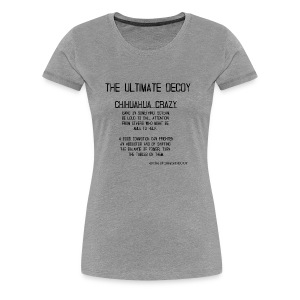 chihuahua crazy meaning - Women's Premium T-Shirt