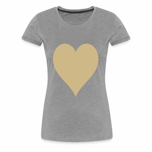 Gold Heart - Women's Premium T-Shirt