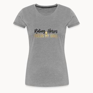 Riding Horses - Heart - Women's Premium T-Shirt