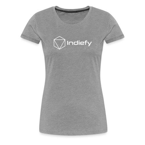 Indiefy Logo White - Women's Premium T-Shirt