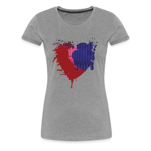 Painted Heart - Women's Premium T-Shirt