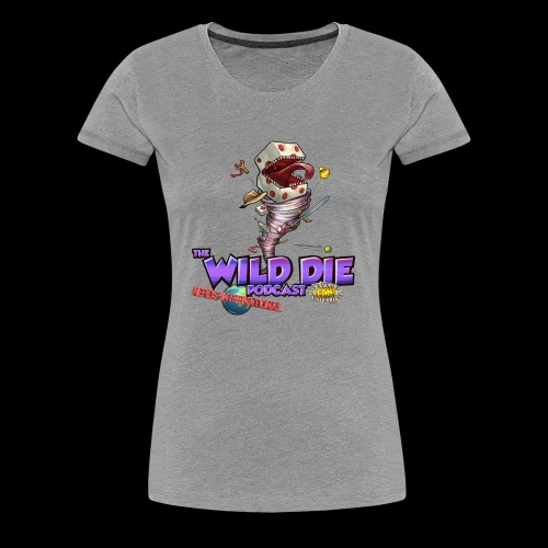 The Wild Die Podcast with N-I logo - Women's Premium T-Shirt