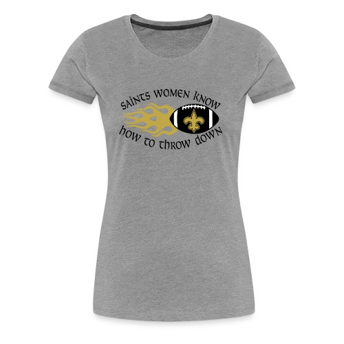 Saints Women Throwdown Light - Women's Premium T-Shirt