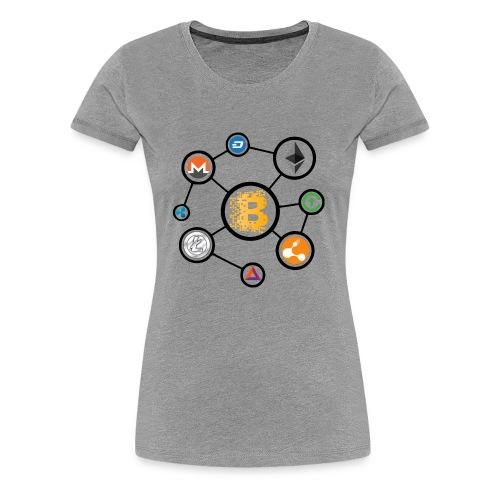 blockchain network - Women's Premium T-Shirt
