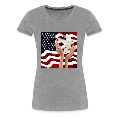 Peace in America - Women's Premium T-Shirt