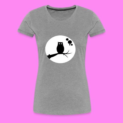 the owl awake - Women's Premium T-Shirt