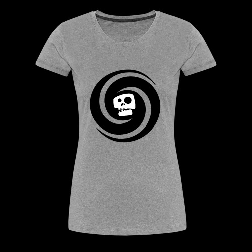 skul white - Women's Premium T-Shirt