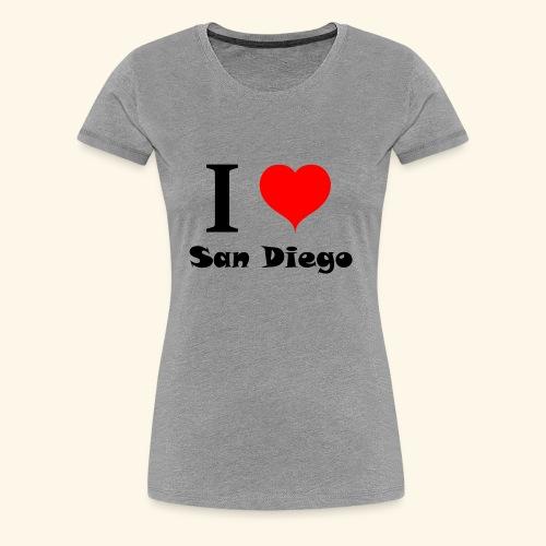 I love San Diego - Women's Premium T-Shirt