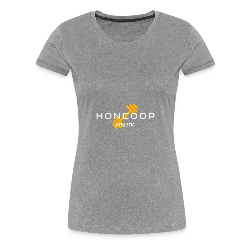 Honcoop Athletic White On Orange Logo - Women's Premium T-Shirt