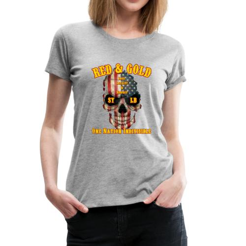 Red and Gold Indivisible tee - Women's Premium T-Shirt
