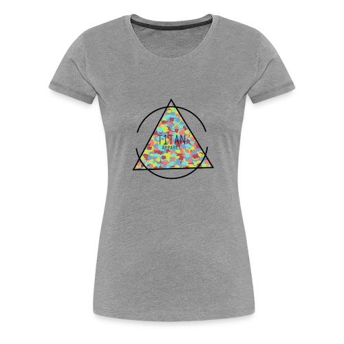 Titan Apparel Hawaiian Camo Logo - Women's Premium T-Shirt