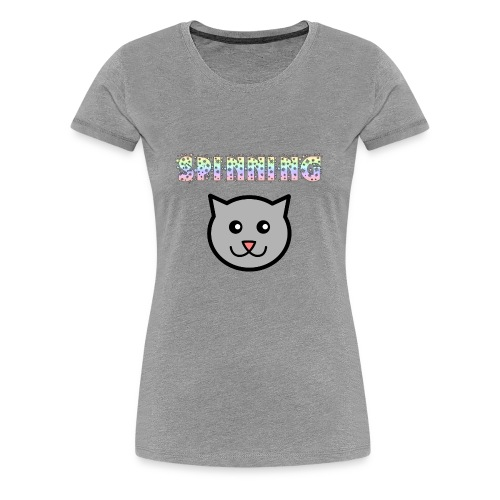 Spinning Cat - Women's Premium T-Shirt