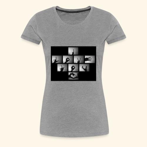 I Love You Hand Sign - Women's Premium T-Shirt