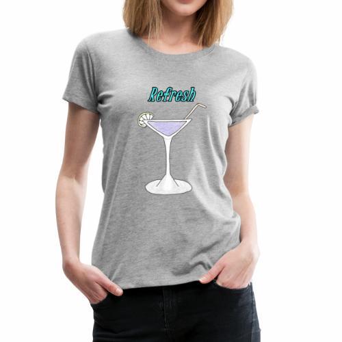 A cocktail glass - Women's Premium T-Shirt