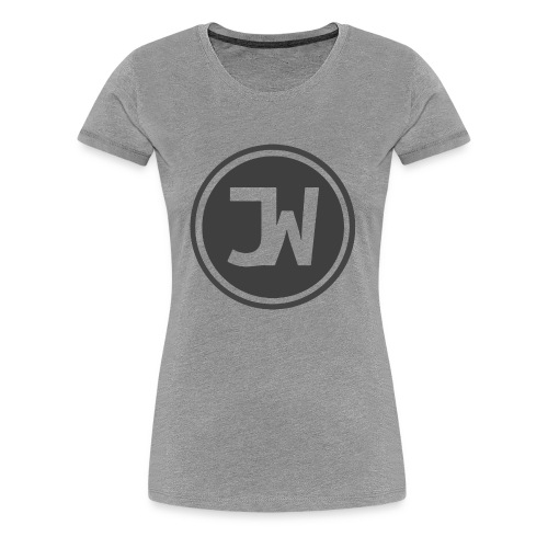 Grey Johannes With Logo - Women's Premium T-Shirt
