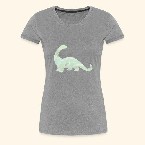 green brachi dinosaur - Women's Premium T-Shirt