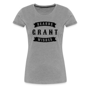 Beards grant wishes, black - Women's Premium T-Shirt