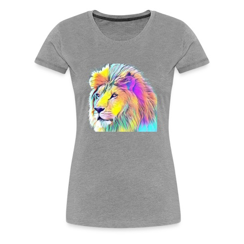 Rainbow Lion - Women's Premium T-Shirt