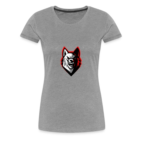 clean wolf logo by akther brothers no watermark - Women's Premium T-Shirt