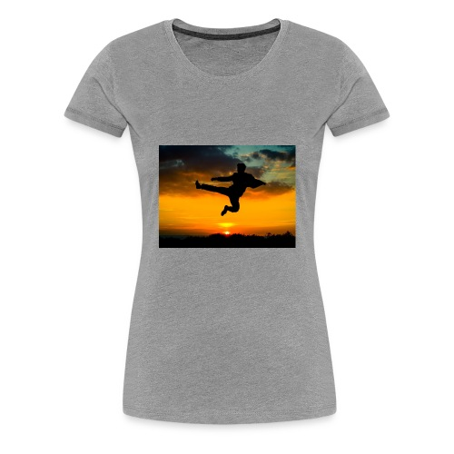 flying kick 1000x750 - Women's Premium T-Shirt