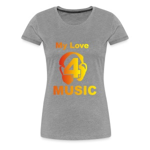 Blackprince LOVE FOR MUSIC - Women's Premium T-Shirt