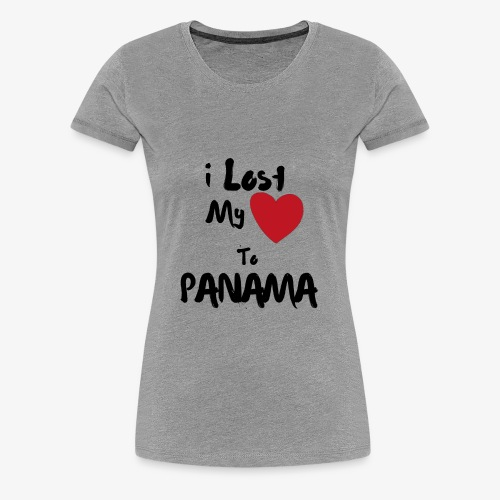 I lost my Heart to Panama Illustrated - Women's Premium T-Shirt