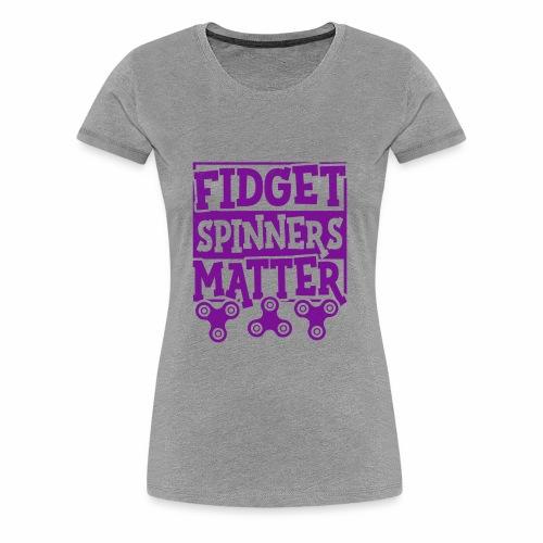 Fidget Spinners' Design - Women's Premium T-Shirt