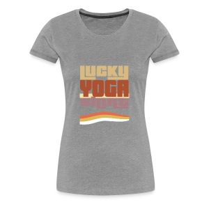 Lucky Yoga shirt, retro, vintage, 80s, #Yoga - Women's Premium T-Shirt