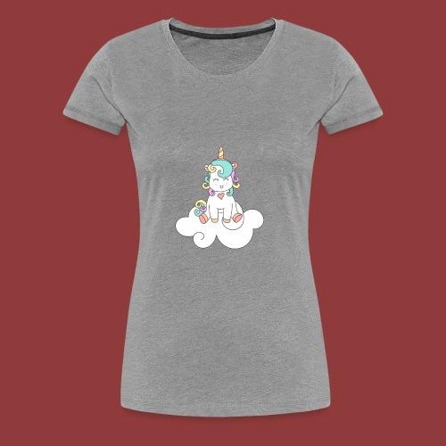 Happy Unicorn on Cloud 9 - Women's Premium T-Shirt