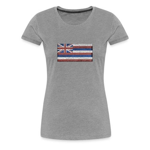 Hawaii Grunge Flag - Women's Premium T-Shirt