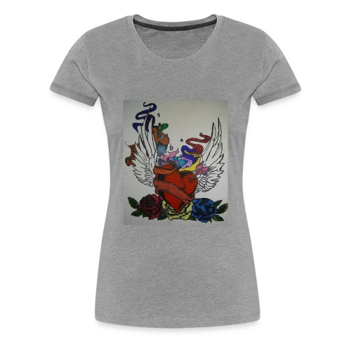 Winged heart - Women's Premium T-Shirt
