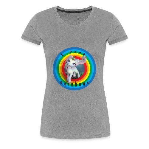 I Poop Rainbows - Women's Premium T-Shirt