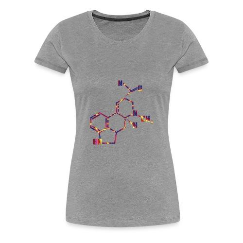 LSD Molecule for Trippy Science Nerds - Women's Premium T-Shirt