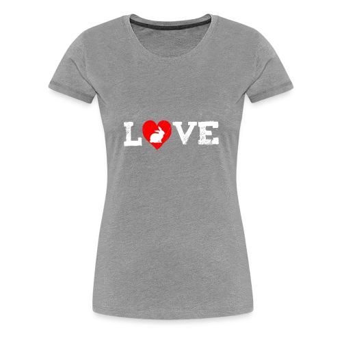 I Love my Rabbit I Heart my Bunny Easter - Women's Premium T-Shirt