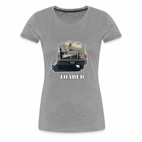 Truck Loaded with Sofa - Women's Premium T-Shirt