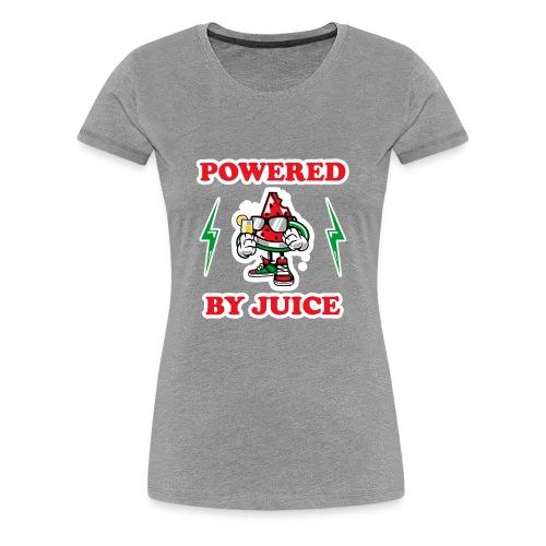 Powered by Juice Vegan design - Women's Premium T-Shirt