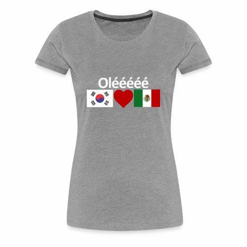 Mexico Soccer Jersey Shirt Mexico and Korea flag - Women's Premium T-Shirt