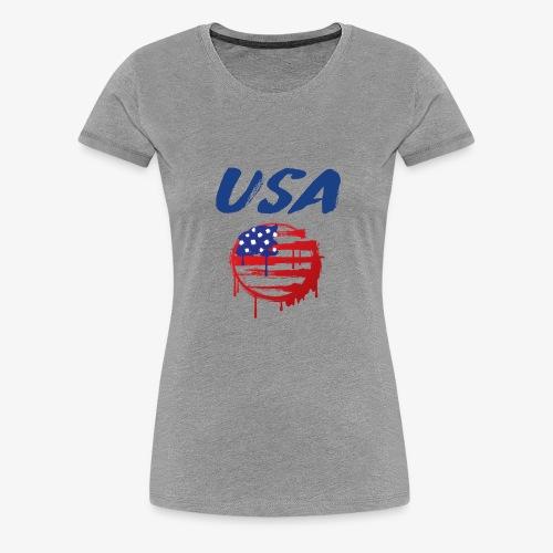 USA Graffiti Flag - Women's Premium T-Shirt