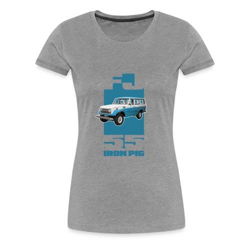 BLUE Toyota FJ55 Landcruiser IRON PIG wagon - Women's Premium T-Shirt
