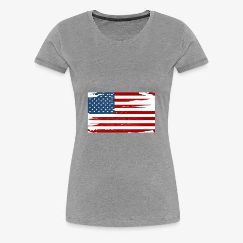 Bandera del Día de la Independencia de los Estados - Women's Premium T-Shirt