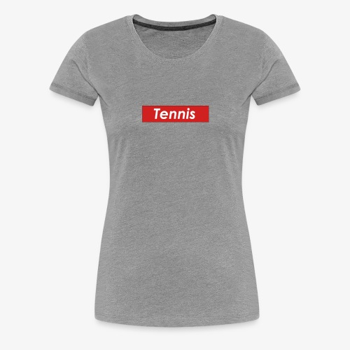 Tennis Box Logo - Women's Premium T-Shirt