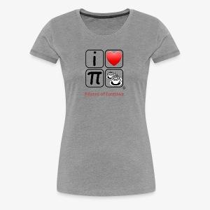 I love Pilates black and white - Women's Premium T-Shirt