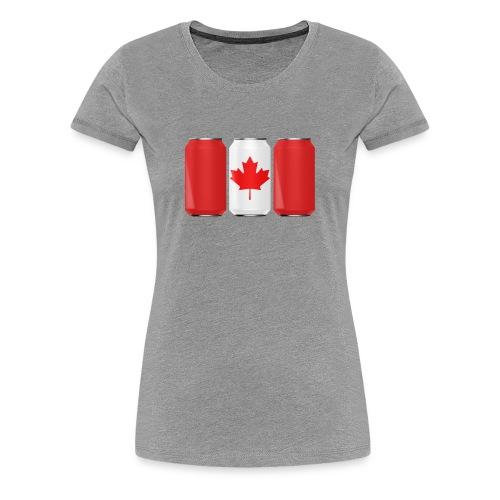 Beer Can Canada Flag - Women's Premium T-Shirt