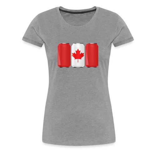 Beer Can Canada Flag - Women's Premium T-Shirt