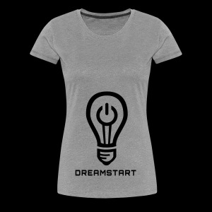 Dreamstart Logo (Black) - Women's Premium T-Shirt
