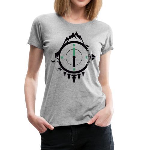 compass travel - Women's Premium T-Shirt