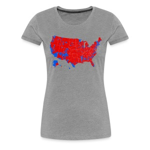 2016 Presidential Election by County - Women's Premium T-Shirt