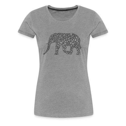 Elephant Geometric - Women's Premium T-Shirt