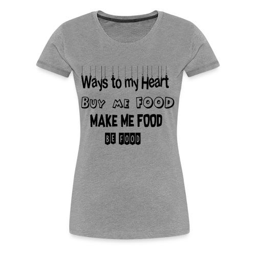 Who loves food ? - Women's Premium T-Shirt