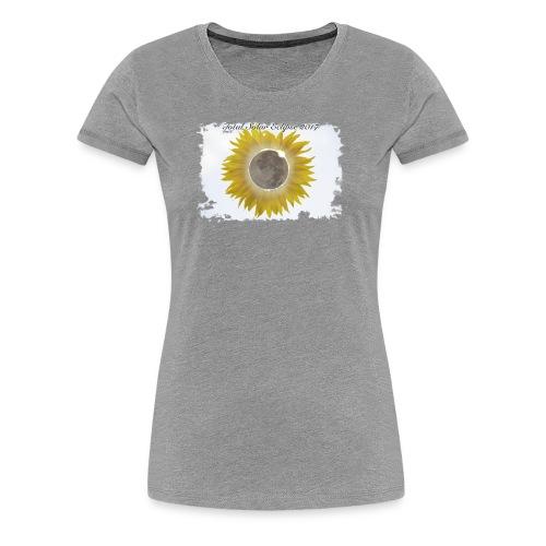 Total Sunflower Eclipse Design 1 - Women's Premium T-Shirt